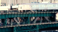 NYC Subway train across the Queensboro Bridge video