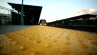 Subway Train Elevated Platform Outside in Bronx, New York City video
