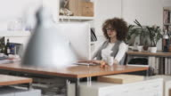 Succesful Creative woman at the office video