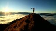 Success on mountain summit video
