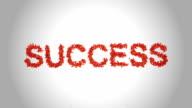 Success Symbol made by Orange Butterflies - Alpha video