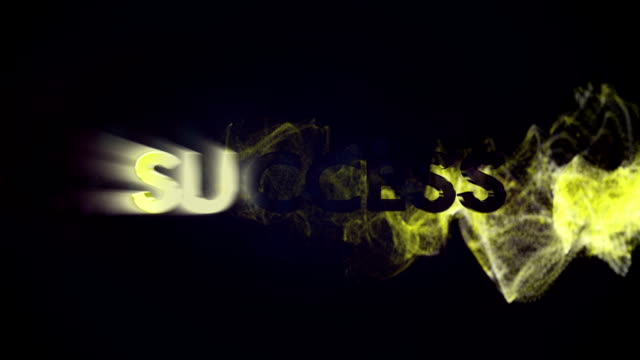 Success Text in Particles video