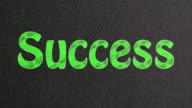 Success Text on Blackboard video