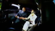 Successful Business People Travelling Limousine video