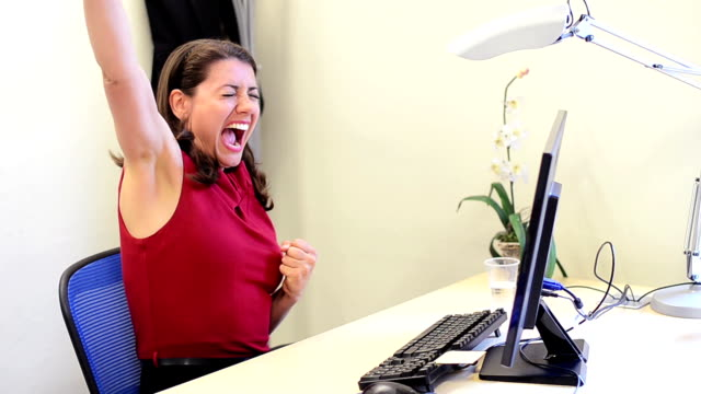 Successful business woman video