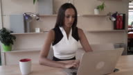 Successful entrepreneur in personal office video
