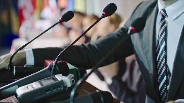 Successful Male Politician at Press Conference video