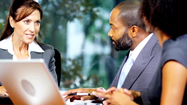 Successful Multi Ethnic Marketing Team Congratulations video