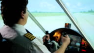 Successful takeoff from runway, pilot navigating aircraft, career in aviation video