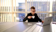 Successful young businessman video