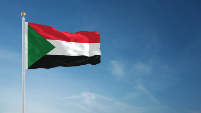 4K Sudan Flag - Loopable video
