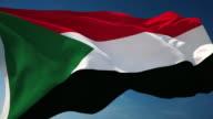 4K Sudan Flag - Loopable video