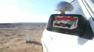 Sudanese car in the desert video