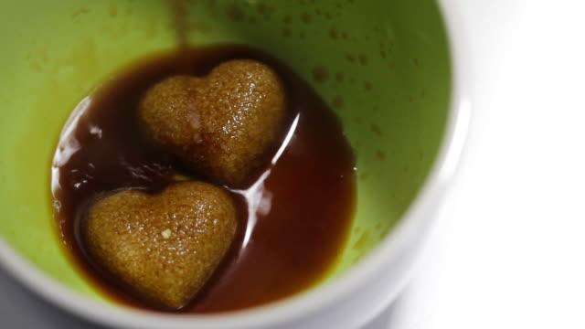 Sugar Hearts in Breakfast Coffee video