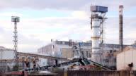 Sugar refinery - Industrial buildings exterior video