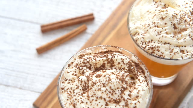 Sugar-free pumpkin cocktail with whipped cream video