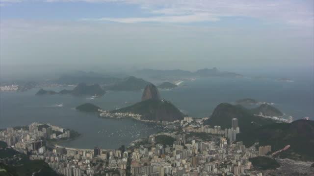 Sugarloaf Rio de Janeiro, Guanabara Bay, zooming in (HD) video