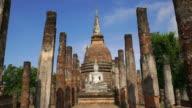 WS, LD, Sukhothai Historical Park, Sa Sri temple, Thailand video