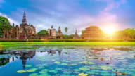 Sukhothai historical park Thailand video