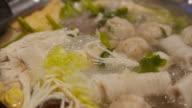 sukiyaki hot pot. video