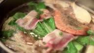 Sukiyaki Pot with hot water video