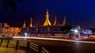 Sule Pagoda at Night Of Yangon, Myanmar video