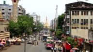 Sule Pagoda Road of traffic video