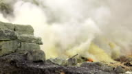 Sulfur Mine Khawa Ijen Indonesia video