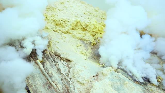 Sulphur Miners Mountain At Ijen Volcano, Indonesia video