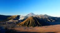 Sumeru and Bromo mount at sunrise,Tengger Semeru National Park video