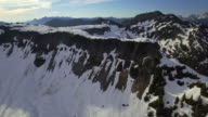 Summer Aerial of Snow Melting in the Cascade Mountain Range video
