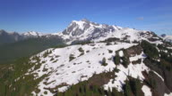 Summer Aerial View of Mt Shuksan Partially Covered in Snow video