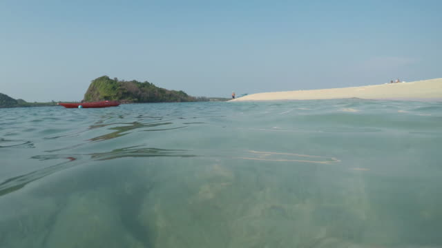Summer Beach at Water Surface Level video
