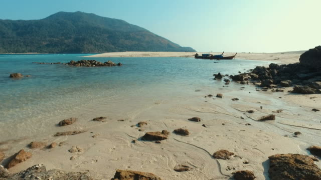 Summer Beach with Blue Turquoise Sea video