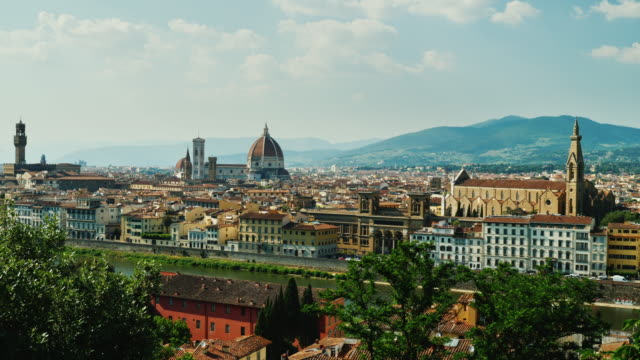 Summer cityscape of Florence in Italy. A popular destination among tourists from all over the world video