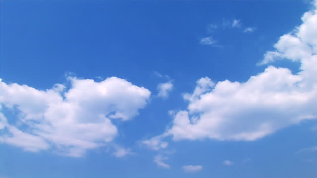 Summer clouds on the blue sky, time lapse video