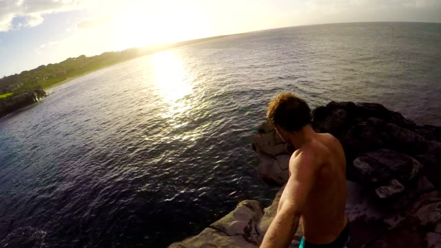 Summer Extreme Sports Cliff Jumping Outdoor Lifestyle video