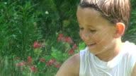 Summer fun in the garden. video