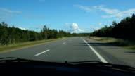 Summer highway. video