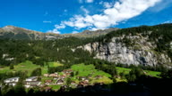 summer Lauterbrunnen Valley in Switzerland video