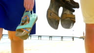 Summer Shoes in People's Hands video
