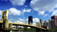 A summer time lapse shot of the Pittsburgh skyline. video