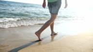Summer walk along the sea video