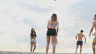 Summer with friends: play volleyball by the sea video