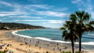 Summertime Beach Crowds, Laguna Beach, California - Static Camera video