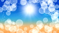 Sun and bubble - abstract background video