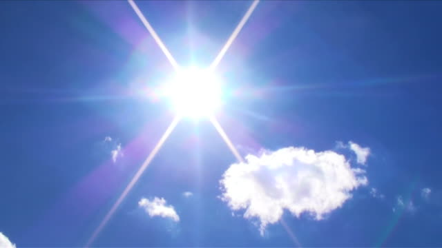 Sun and cloud in blue sky-2 video