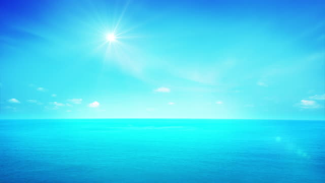 Sun and seascape video