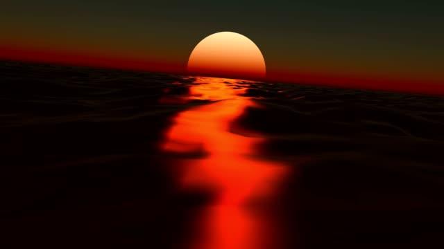sun at coast of the sea video