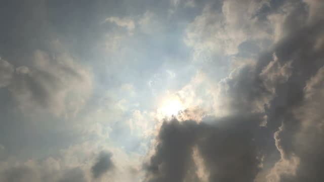 Sun beam with cloudscape time lapse video